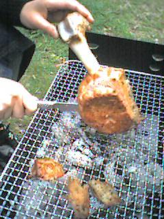 あの肉が焼けちゃうトコ